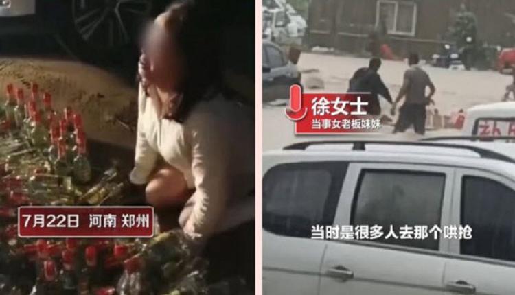 郑州水灾的人生百态 有人趁火打劫 有人奋勇救人