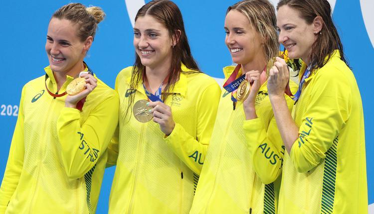 澳洲女子4x100米自由游接力破世界纪录夺冠