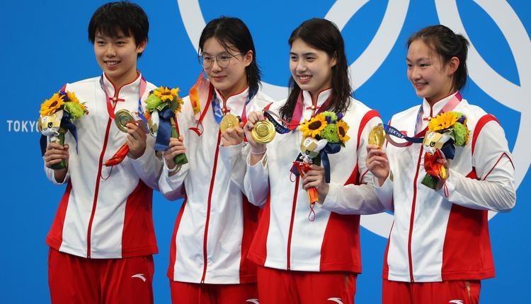 东京奥运会,中国游泳,杨浚瑄、汤慕涵、张雨霏和李冰
