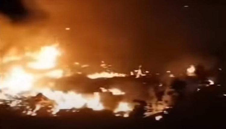 广东湛江廉江一架疑似军机起火 周边出现大量军人