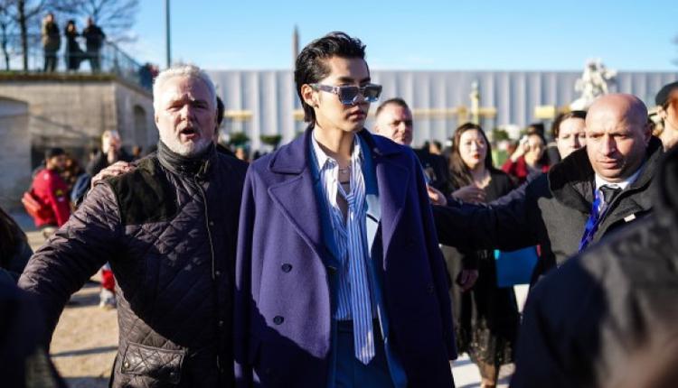 2020年1月16日 吴亦凡在巴黎时装周
