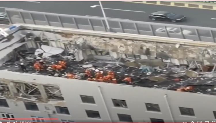 哈尔滨市一楼顶层坍塌