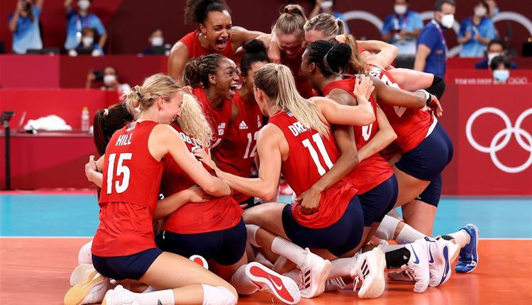 美国8日靠著女篮、女排和场地自由车共3面金牌