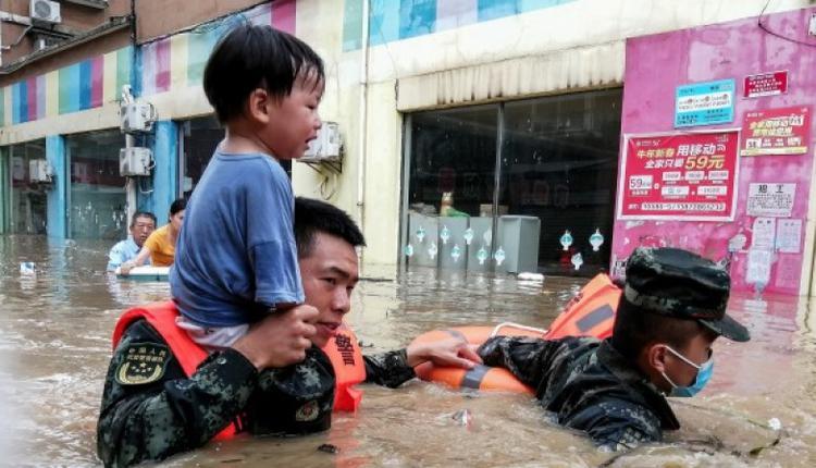 8月12日,中国湖北省随州市遭遇洪灾