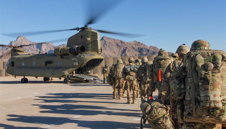2019年美军搭乘直升机前往阿富汗执行任务