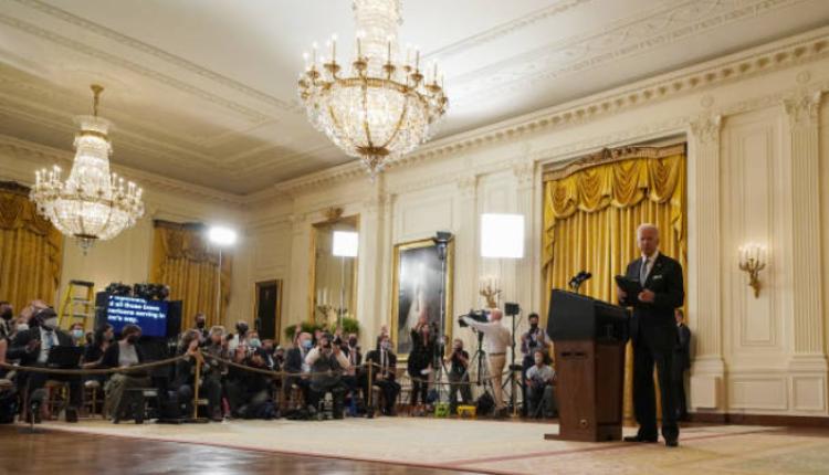 拜登就阿富汗局势在白宫召开记者会