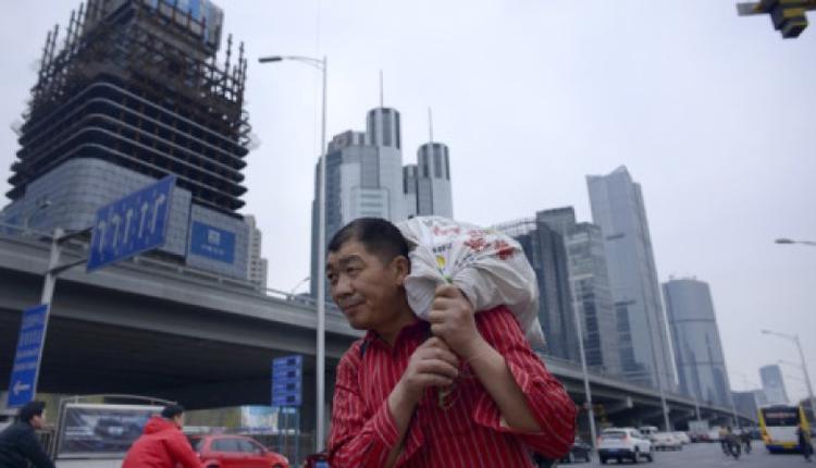 北京市一处尚未兴建完毕的楼盘