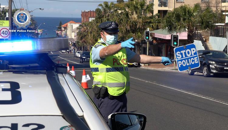 澳洲疫情,新州警方,检查站