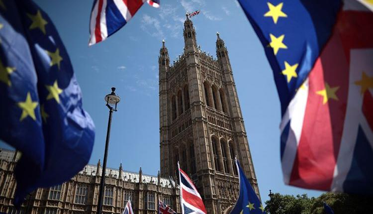 英国经济,英国脱欧,英国国旗,英国标志型建筑