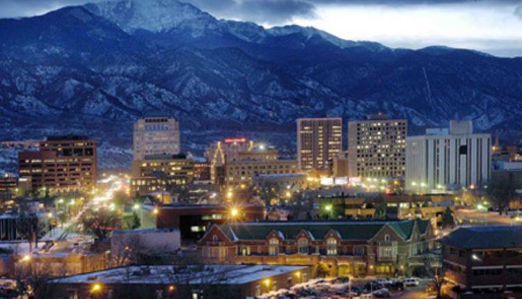 科罗拉多泉,科罗拉多,美国城市,美国城市夜景
