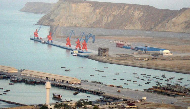 """图为参与""""一带一路""""建设的巴基斯坦瓜达尔港"""