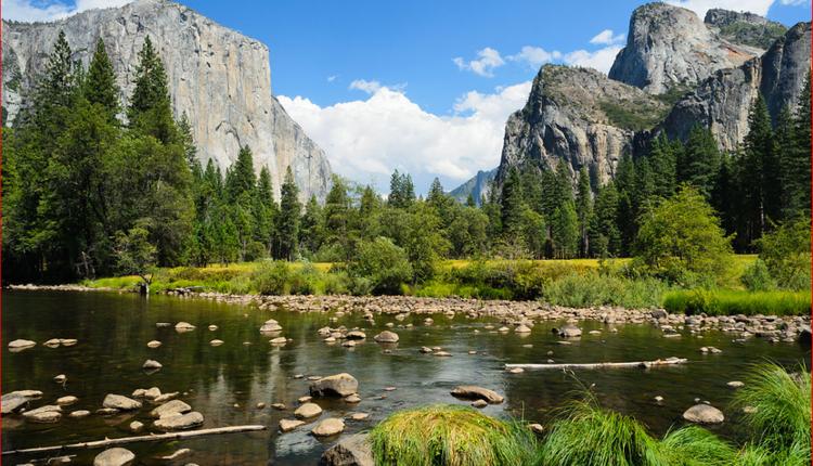 加州优胜美地国家公园一角