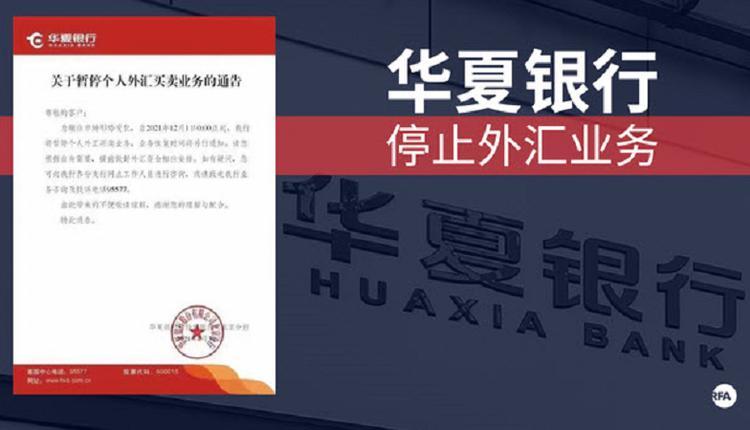 """中国华夏银行""""暂停个人外汇买卖业务"""" 引关注"""