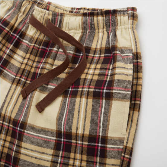 法兰绒格子裤