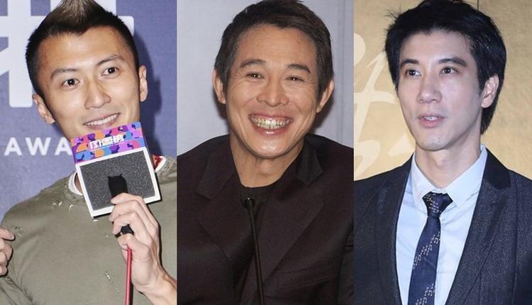 谢霆锋(左)、李连杰(中)、王力宏(右)