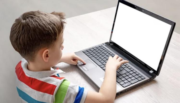 儿童,电脑