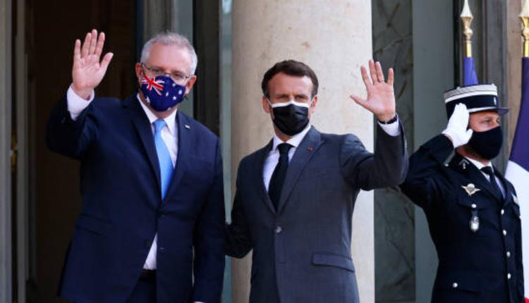 澳洲总理莫里森,法国总统马克龙