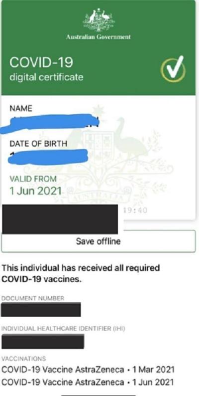 假疫苗证书