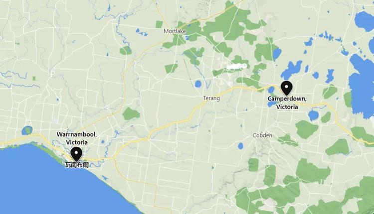 Camperdown谷歌地图截屏