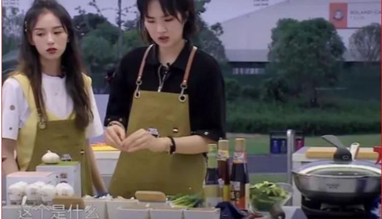 《中餐厅》剧照  右为姚安娜 左为周也