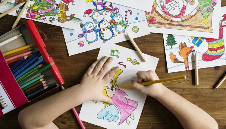 孩子画画示意图(图片来源:Piqsels)