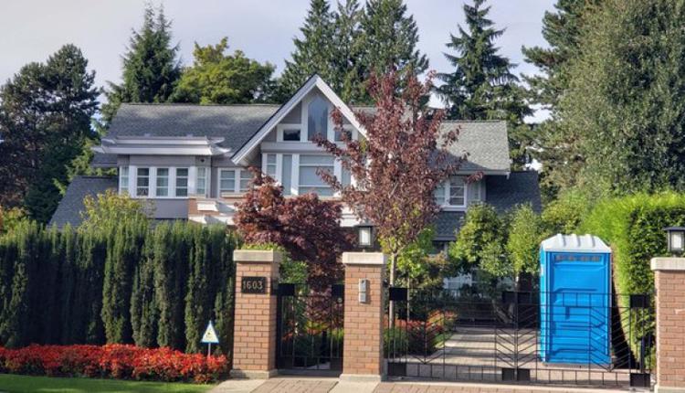 孟晚舟离开加拿大前住在这间桑那斯区千万豪宅中。