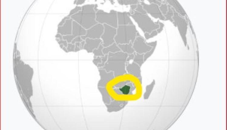 津巴布韦位置示意图